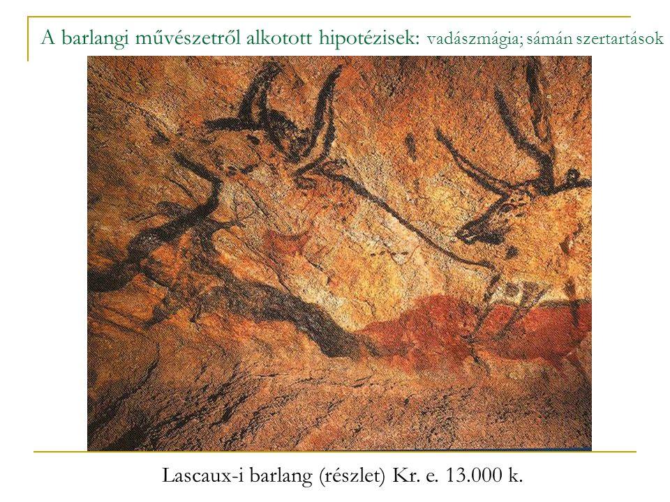 A barlangi művészet fennmaradt alkotásainak döntő része (kb.
