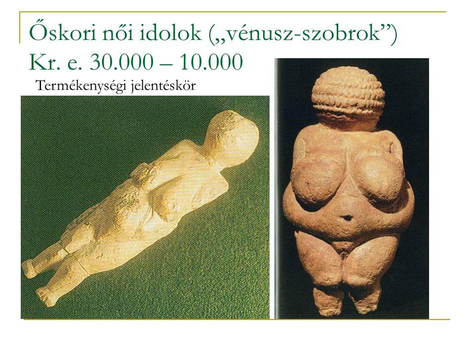 Az európai neolit-kori építészet Dolmen 'kőasztal'Trilit 'három kő' A megalitikus kultikus építészet alapformái: menhir 'kőoszlop'; cromlech 'kősor'