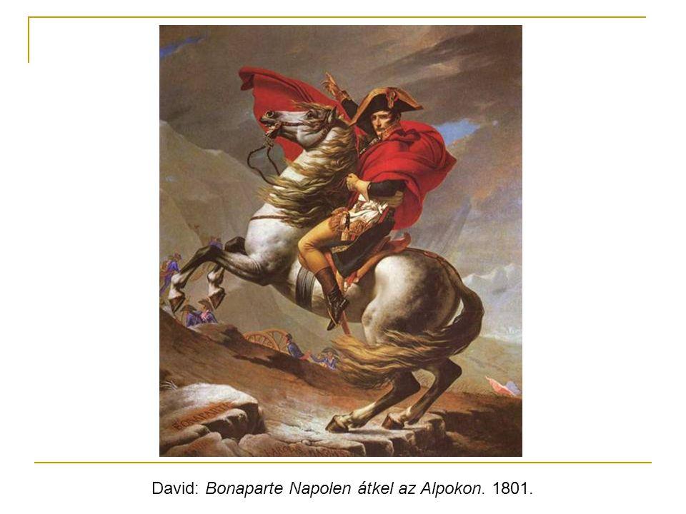 David: Bonaparte Napolen átkel az Alpokon. 1801.