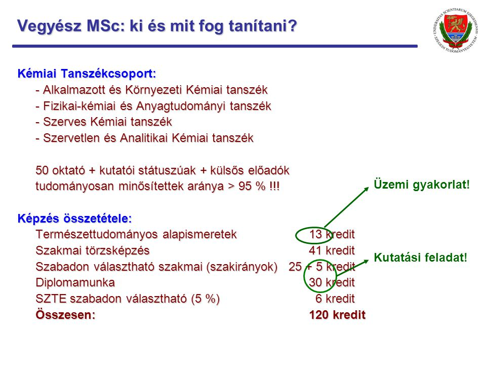 Vegyész MSc: mennyire korszerű amit tanulhatok.