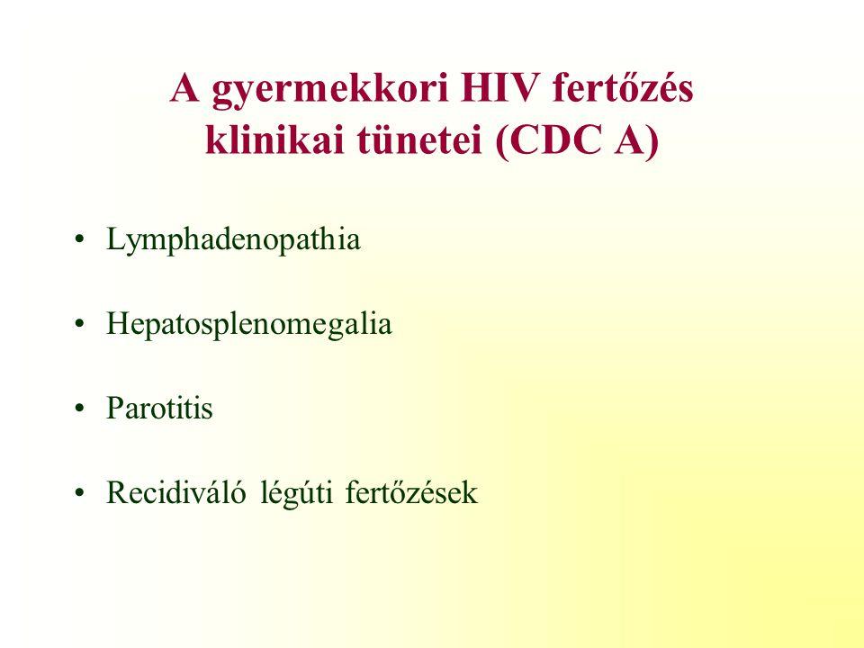 Az immunológiai eltérések besorolása (CDC 1,2,3)