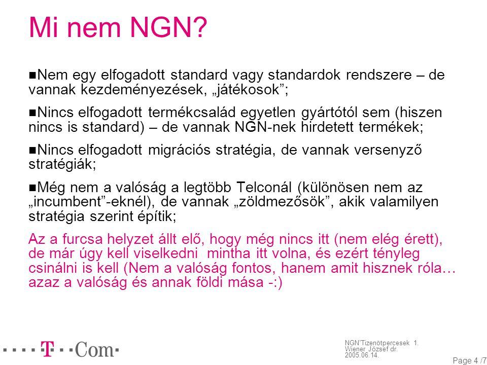 NGN Tizenötpercesek 1. Wiener József dr. 2005.06.14.