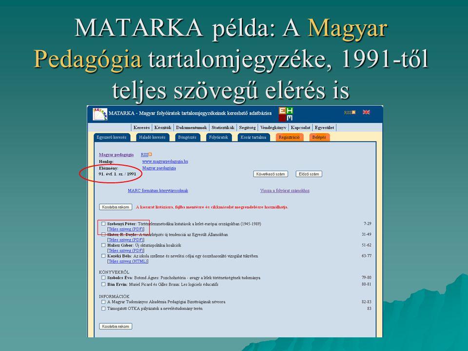 Találat megjelenítése: bibliográfiai adat és teljes szöveg