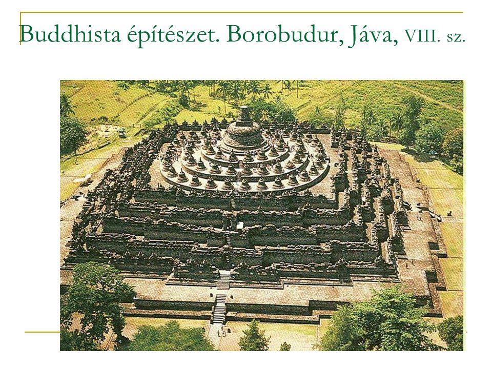 Buddhista építészet. Borobudur, Jáva, VIII. sz.