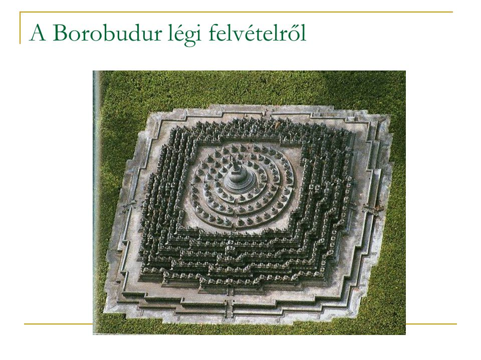 A Borobudur légi felvételről