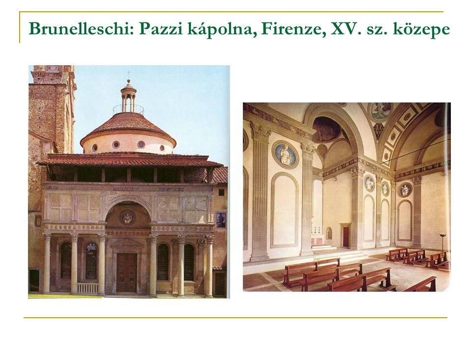 Brunelleschi: Pazzi kápolna, Firenze, XV. sz. közepe