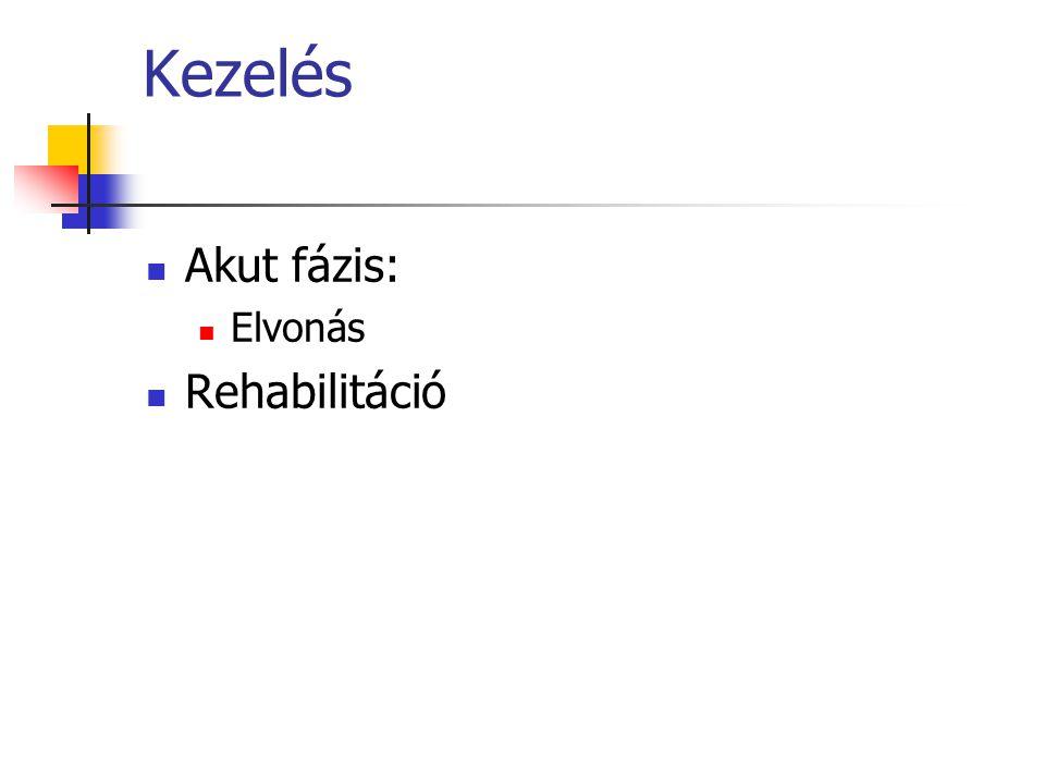 Kezelés Akut fázis: Elvonás Rehabilitáció