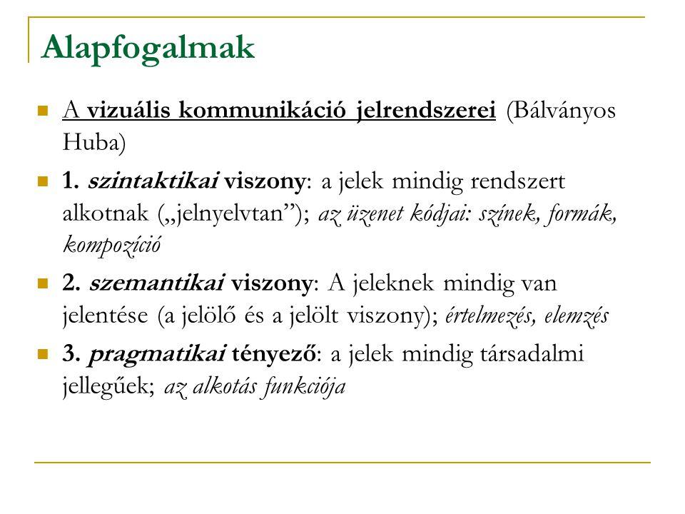 Alapfogalmak A vizuális kommunikáció jelrendszerei (Bálványos Huba) 1.