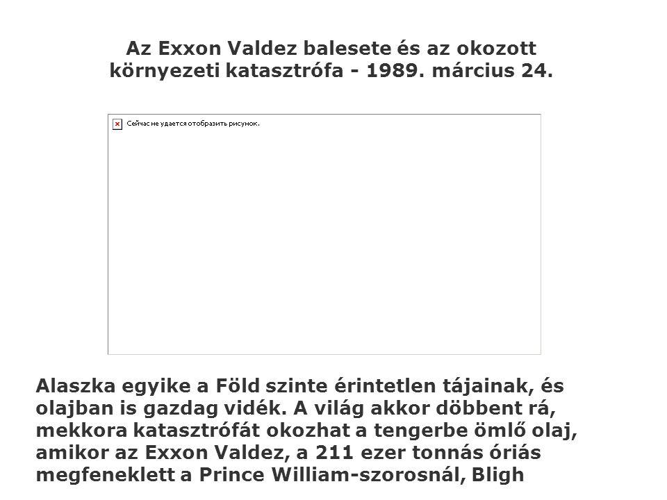 Az Exxon Valdez balesete és az okozott környezeti katasztrófa - 1989. március 24. Alaszka egyike a Föld szinte érintetlen tájainak, és olajban is gazd