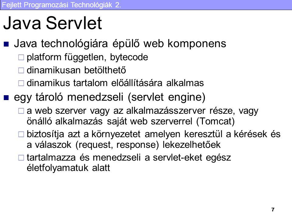 Fejlett Programozási Technológiák 2.8 Példa 1.