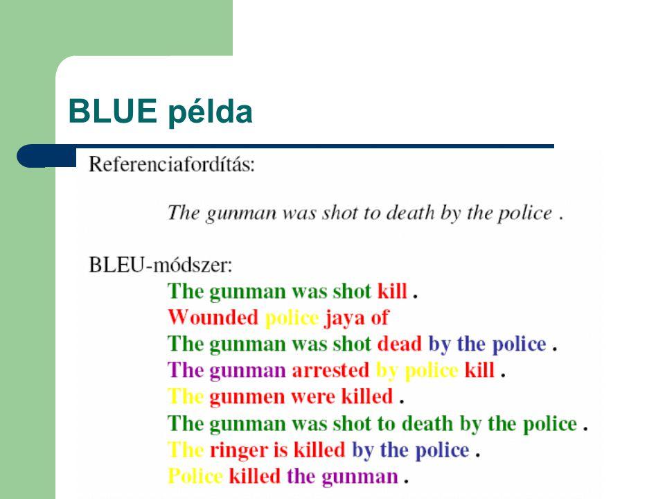 BLUE példa