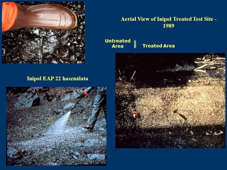 Inipol EAP 22 használata Aerial View of Inipol Treated Test Site - 1989 Treated Area Untreated Area