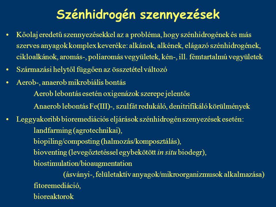 BTEX = benzol-toluol-etilbenzol-xilolok Természetes előfordulásuk – nyersolaj, dízelolaj, benzin, Ipari felhasználás: –Benzol: műanyag, nylon, peszticidek, festékek eá.