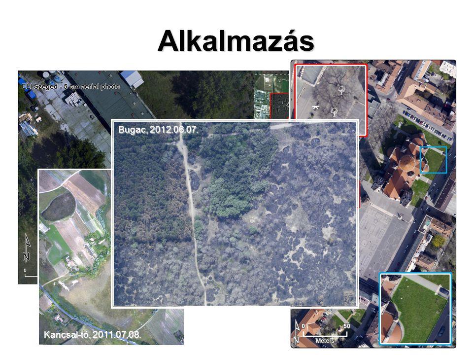 Alkalmazás Kancsal-tó, 2011.07.08. Bugac, 2012.06.07.