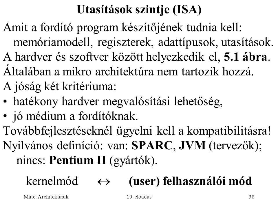 Máté: Architektúrák10.