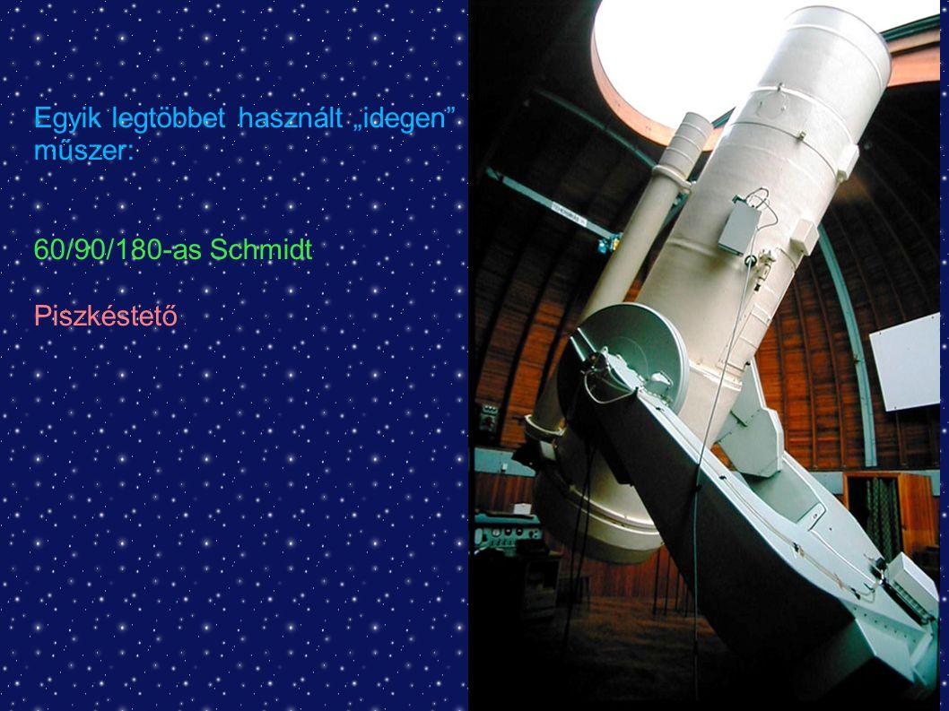 """Egyik legtöbbet használt """"idegen műszer: 60/90/180-as Schmidt Piszkéstető"""