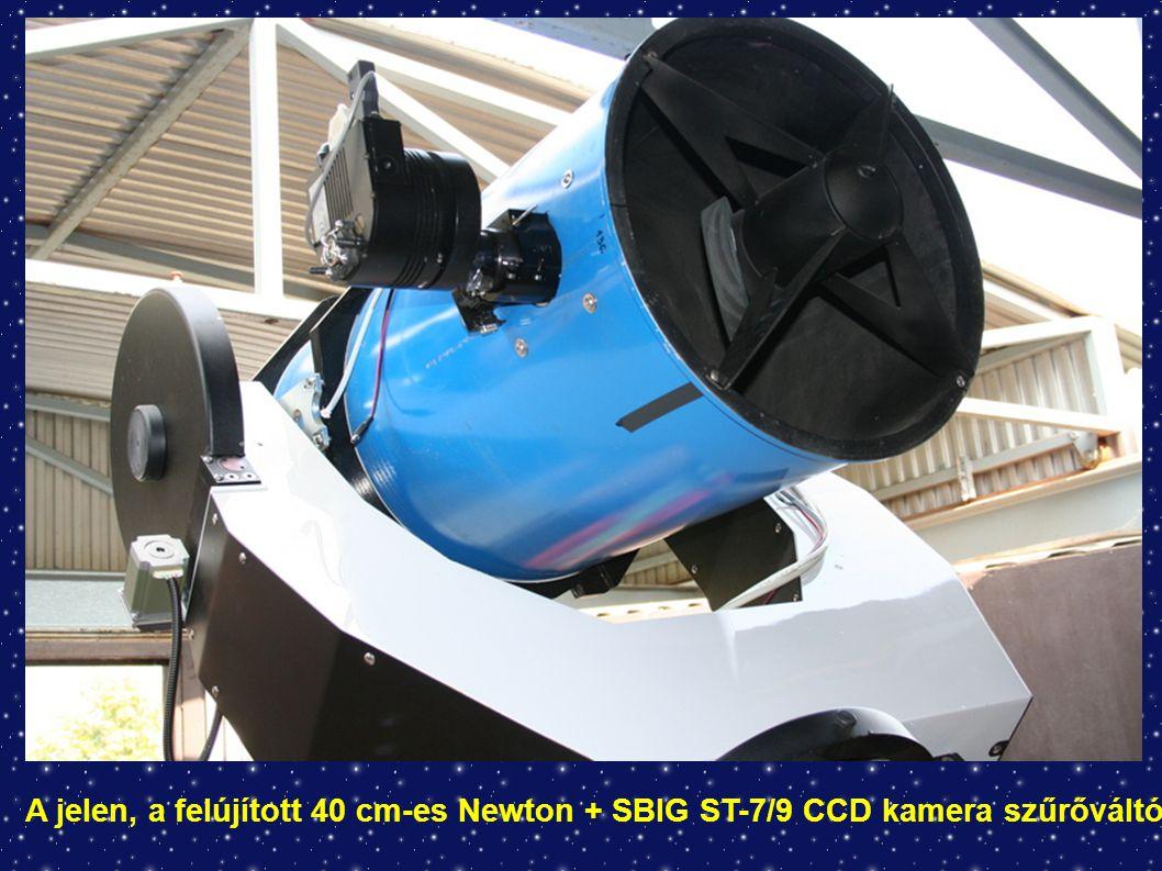A jelen, a felújított 40 cm-es Newton + SBIG ST-7/9 CCD kamera szűrőváltóval