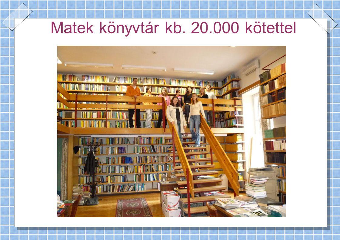 Matek könyvtár kb. 20.000 kötettel