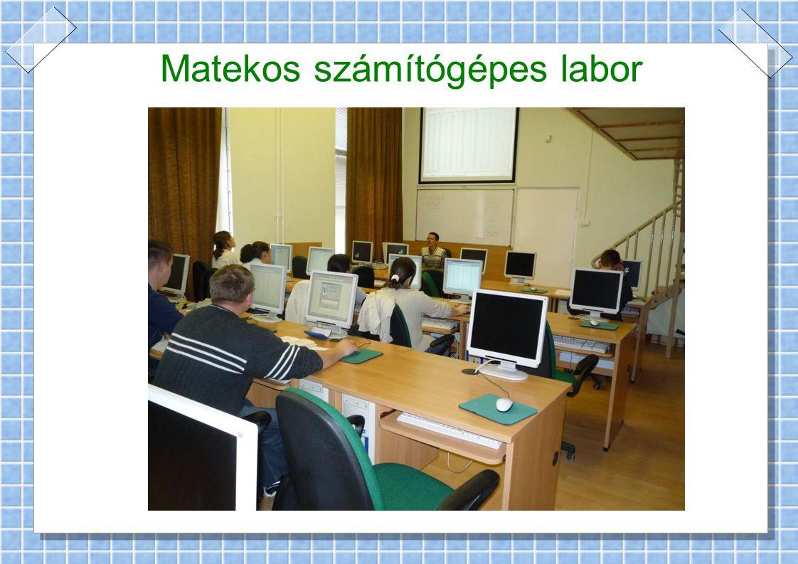 Matekos számítógépes labor