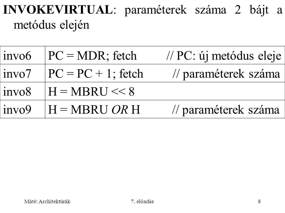 Máté: Architektúrák7.előadás49 Feladatok Hogy inicializálhatjuk egy struktúra valamely mezejét.