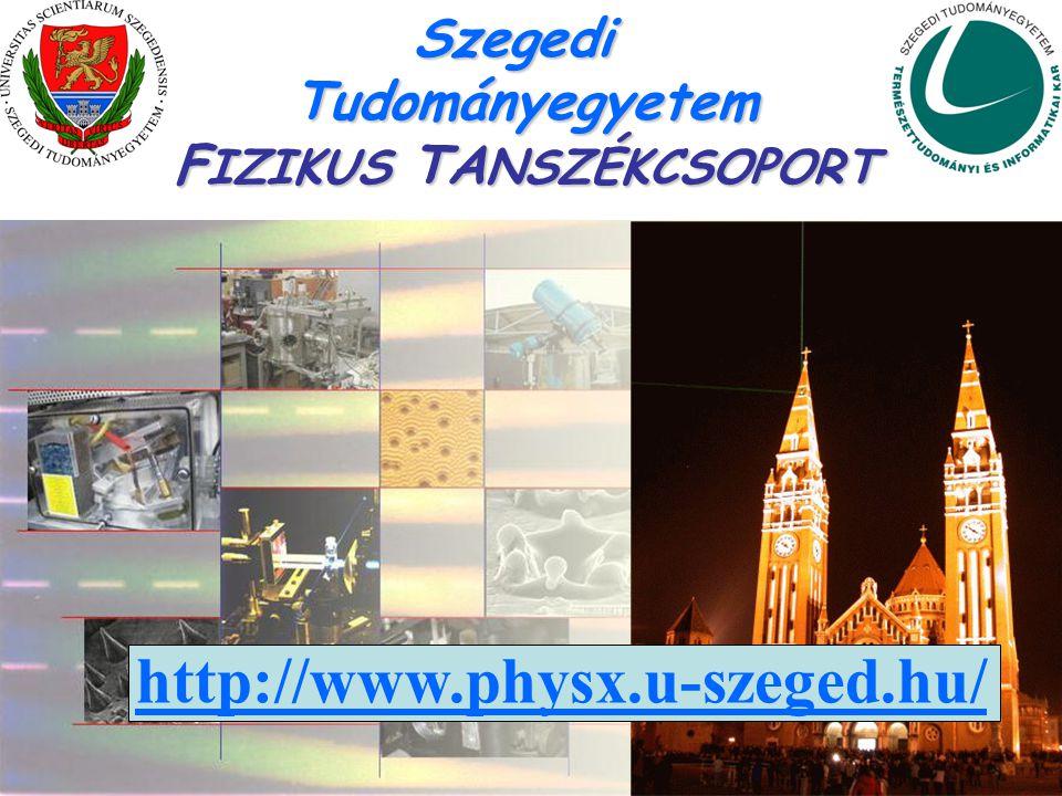SzegediTudományegyetem F IZIKUS TA NSZÉKCSOPORT http://www.physx.u-szeged.hu/