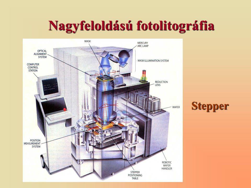 Nagyfeloldású fotolitográfia Stepper