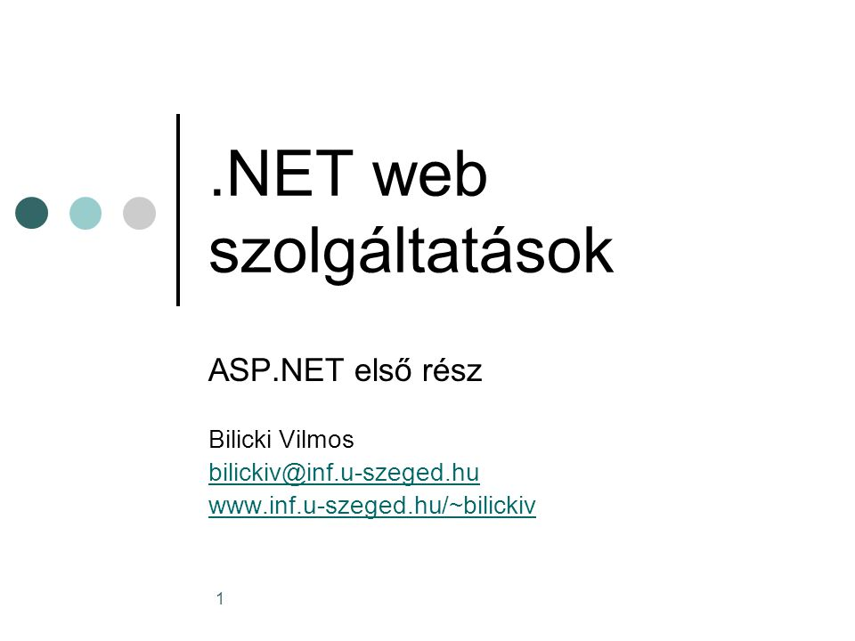 12 Web Szerver vezérlők A System.Web.UI.WebControls névtrében vannak Szintaxisuk: A generált HTML: <asp:TextBox id= TextBox1 runat= server >Text_to_Display <asp:TextBox id= TextBox1 runat= server >Text_to_Display <input name= TextBox1 type= text value= Text_to_Display Id= TextBox1 /> <input name= TextBox1 type= text value= Text_to_Display Id= TextBox1 />