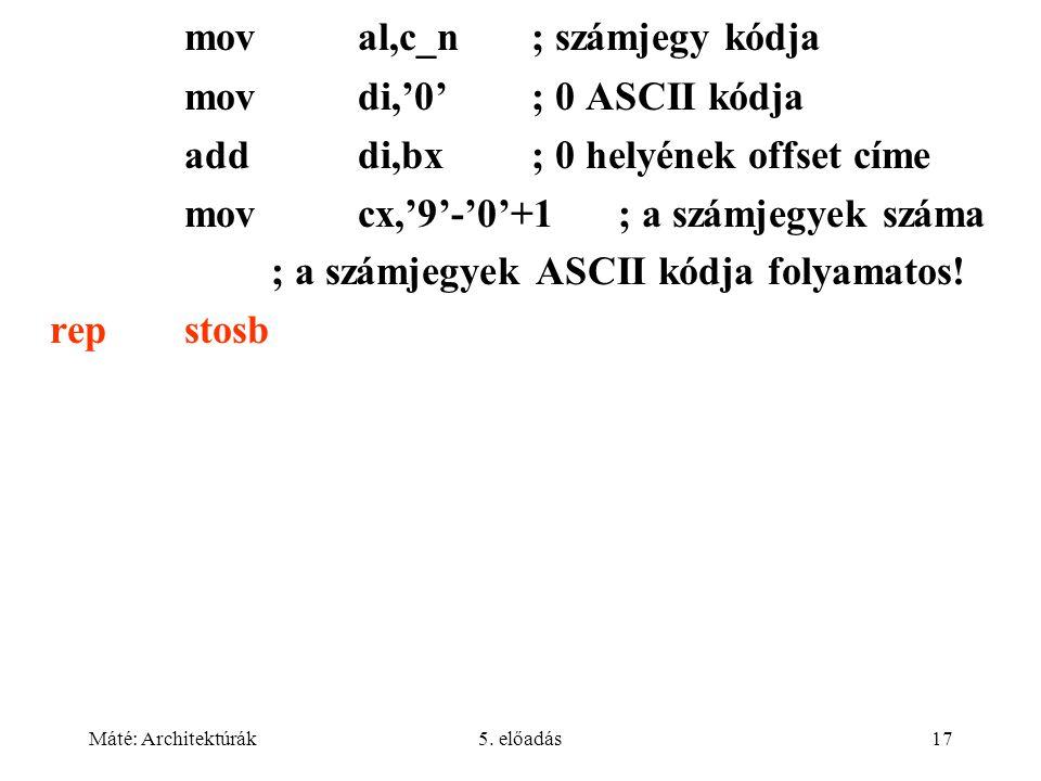 Máté: Architektúrák5.