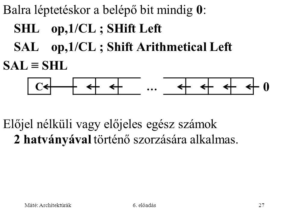 Máté: Architektúrák6.