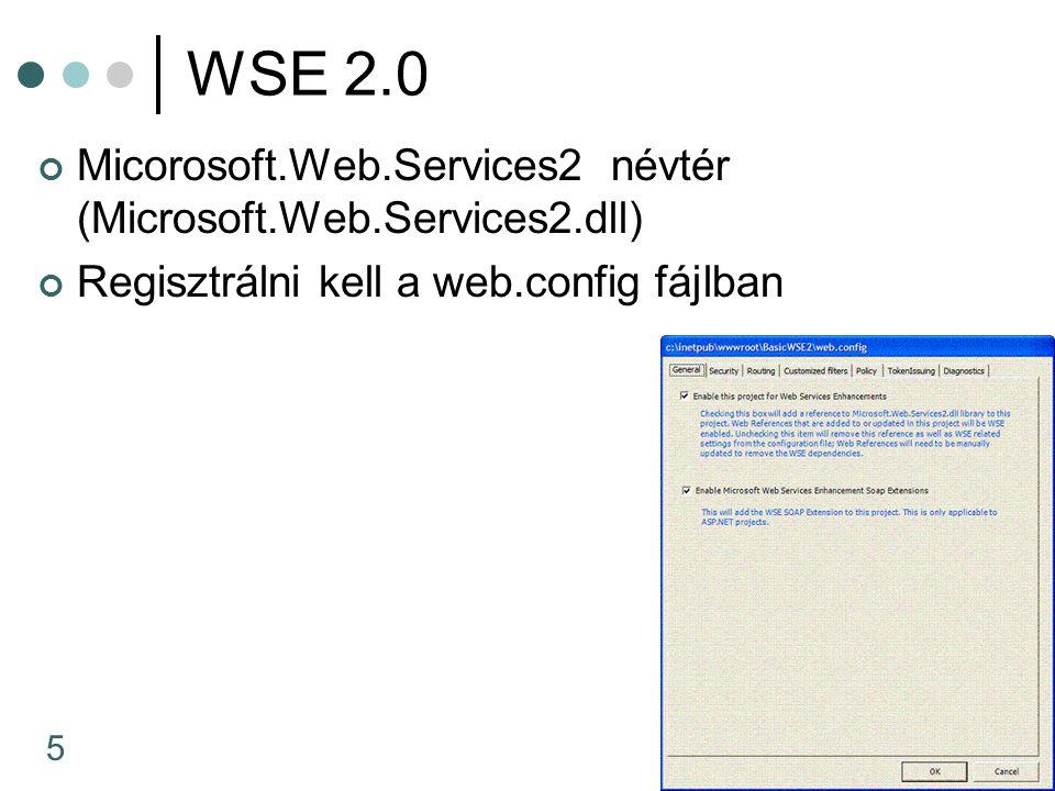 6 WS-Security Azonosítás UserNameToken ClearText (ez kell a windows-nak) Digest KerberosV5 X509...