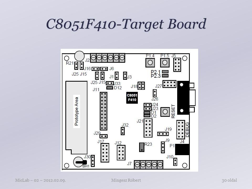 C8051F410-Target Board Mingesz RóbertMicLab – 02 – 2012.02.09.30 oldal