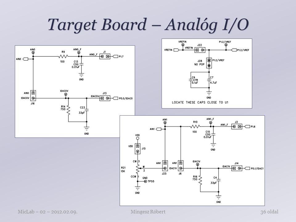 Target Board – LED, Nyomógomb, UART Mingesz RóbertMicLab – 02 – 2012.02.09.37 oldal