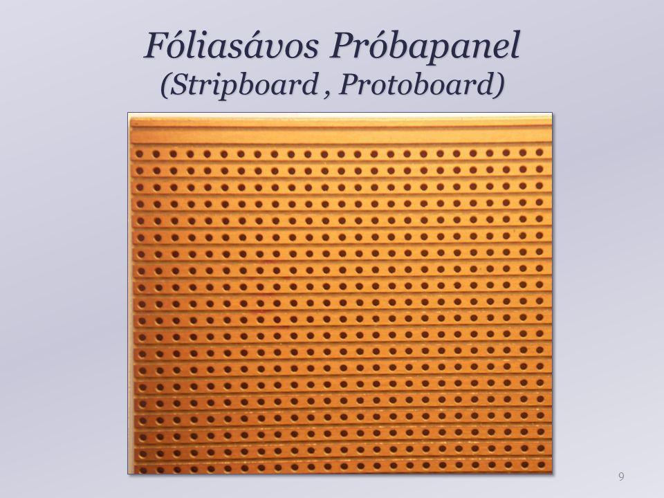 Próbapanel (Stripboard, Protoboard) 10