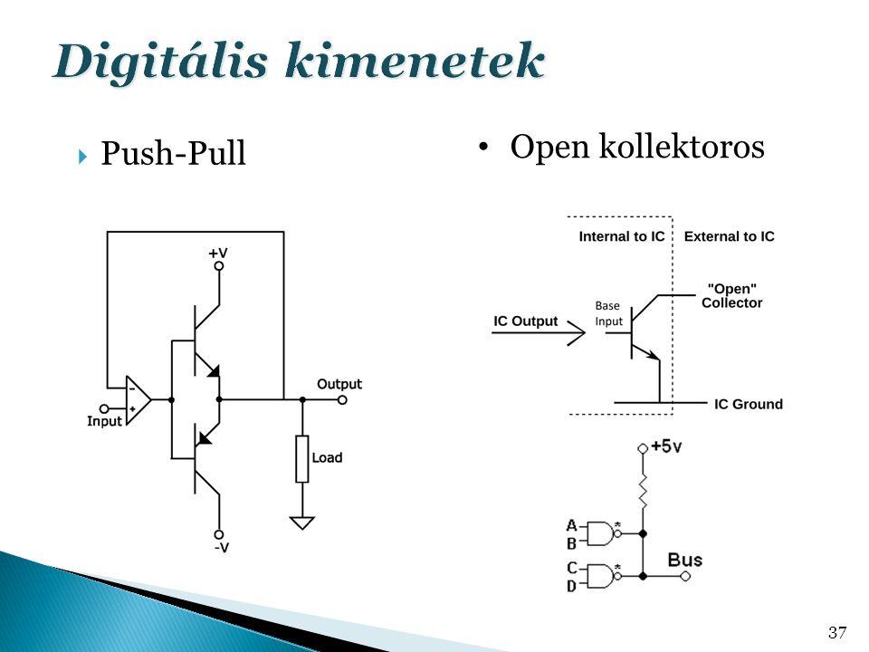  Push-Pull 37 Open kollektoros