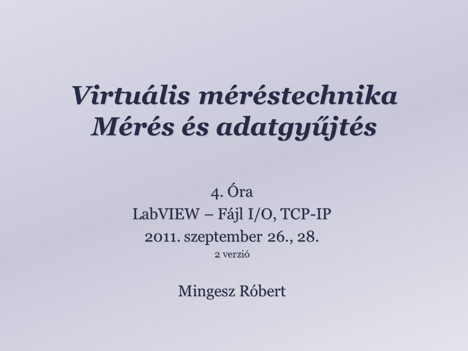 Virtuális méréstechnika Mérés és adatgyűjtés Mingesz Róbert 4.