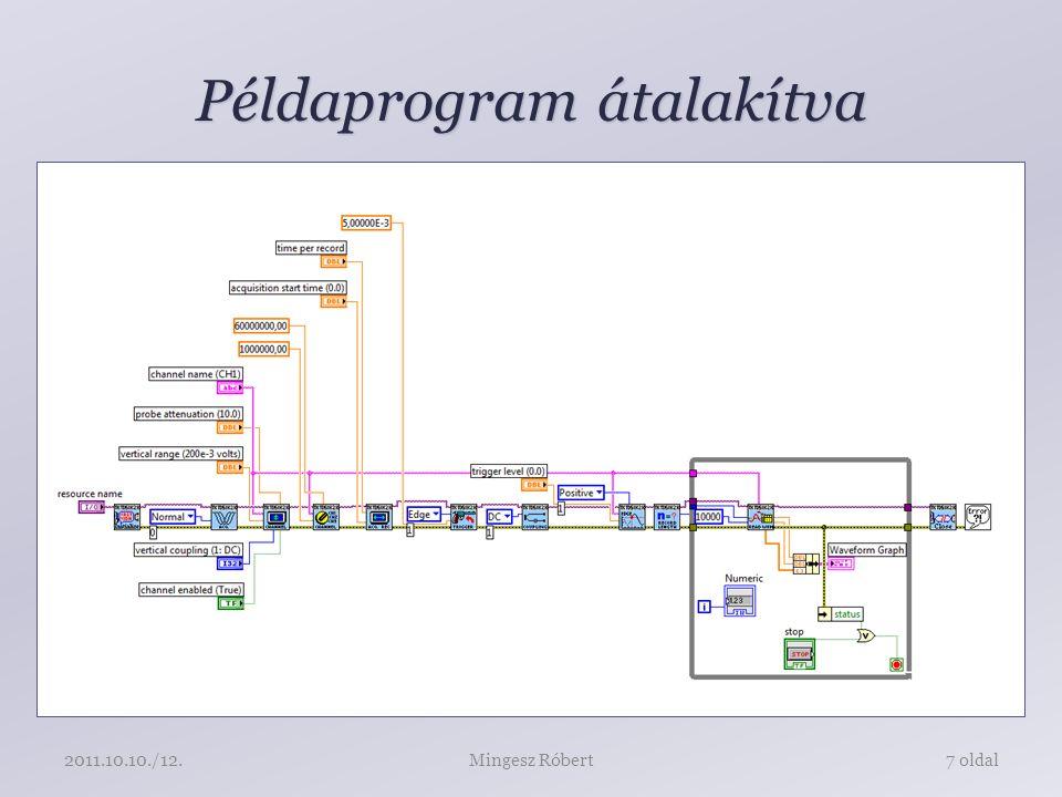 Példaprogram átalakítva Mingesz Róbert7 oldal2011.10.10./12.