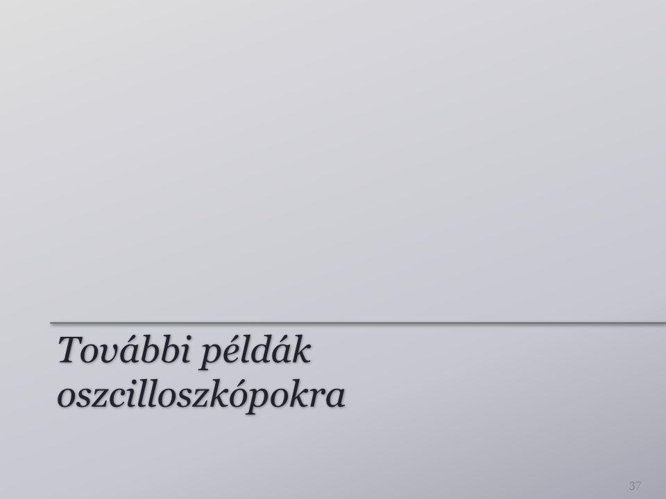 További példák oszcilloszkópokra 37