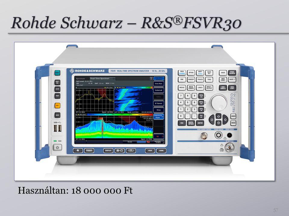 Rohde Schwarz – R&S ® FSVR30 57 Használtan: 18 000 000 Ft
