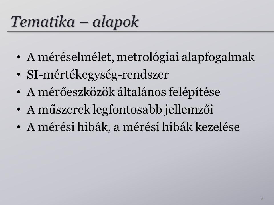 Javaslat új definíciókra (2014?) Természeti állandók: – Planck állandó – Elemi töltés – Boltzmann állandó – Avogadro szám Változatlanok maradnak: m, s, cd 57