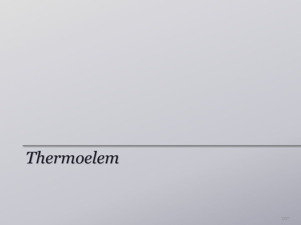 Thermoelem 107
