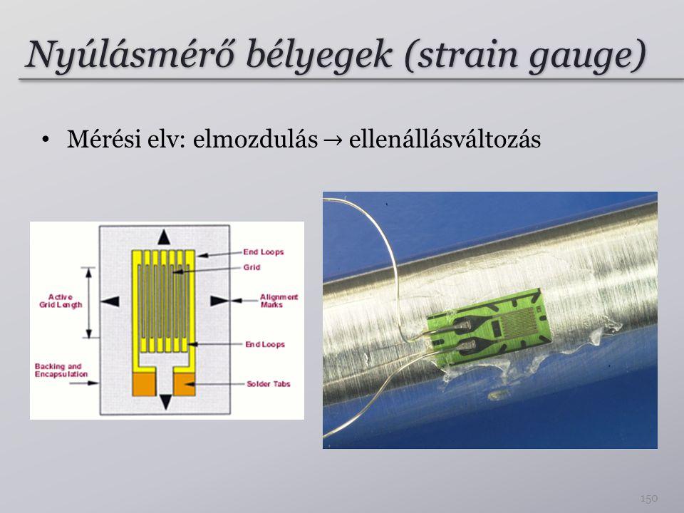 Nyúlásmérő bélyegek (strain gauge) 150