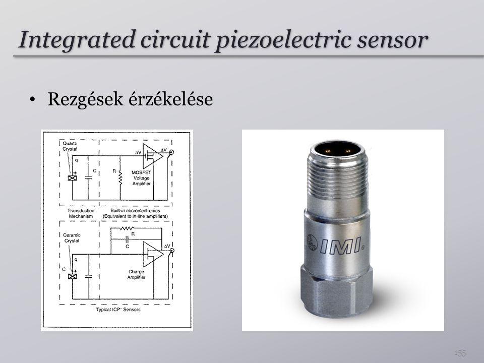 Integrated circuit piezoelectric sensor Rezgések érzékelése 155
