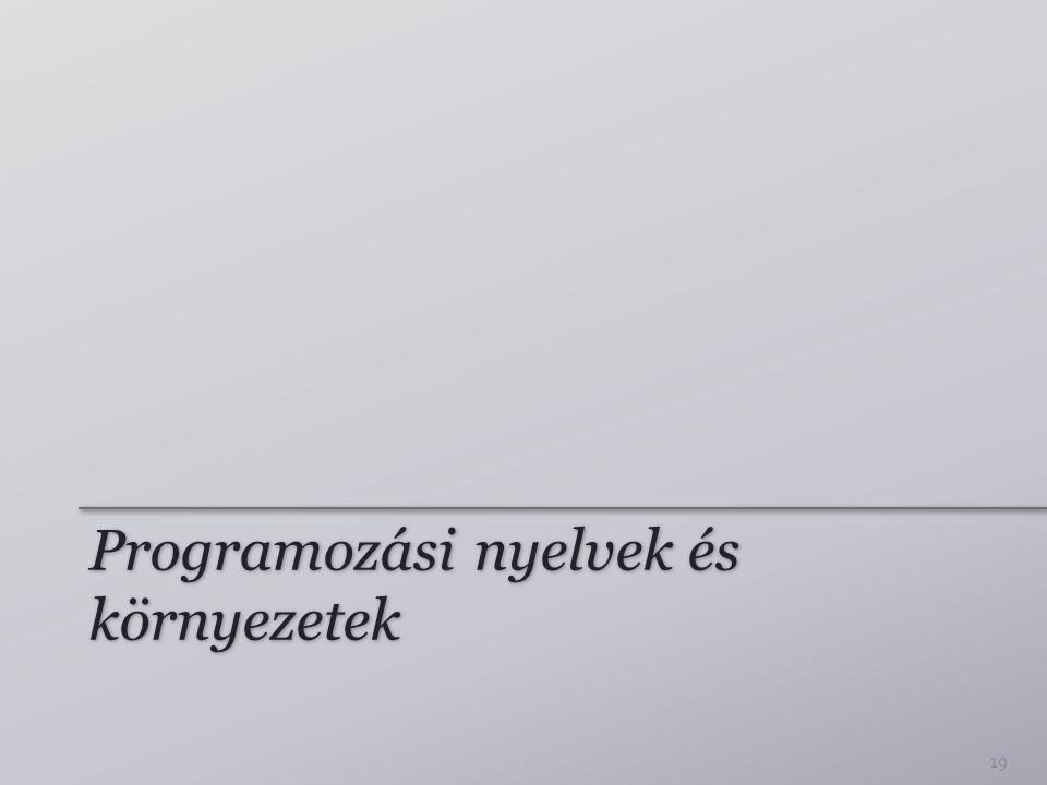 Programozási nyelvek és környezetek 19
