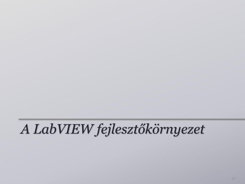 A LabVIEW fejlesztőkörnyezet 27