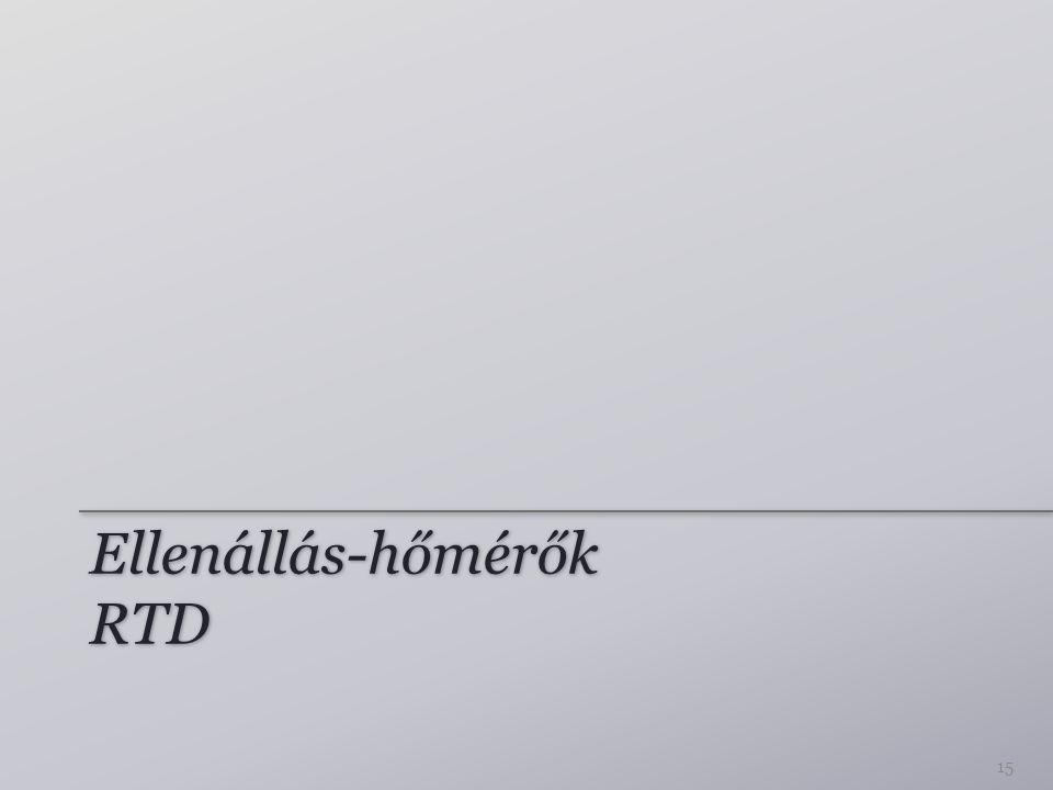 Ellenállás-hőmérők RTD 15