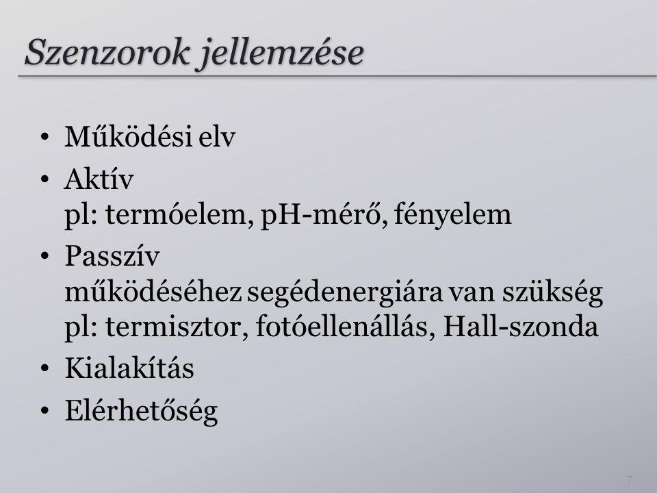 Termoelem Seebeck-effektus: 28 Termoelem (Réz-Konstantán vezetékek)