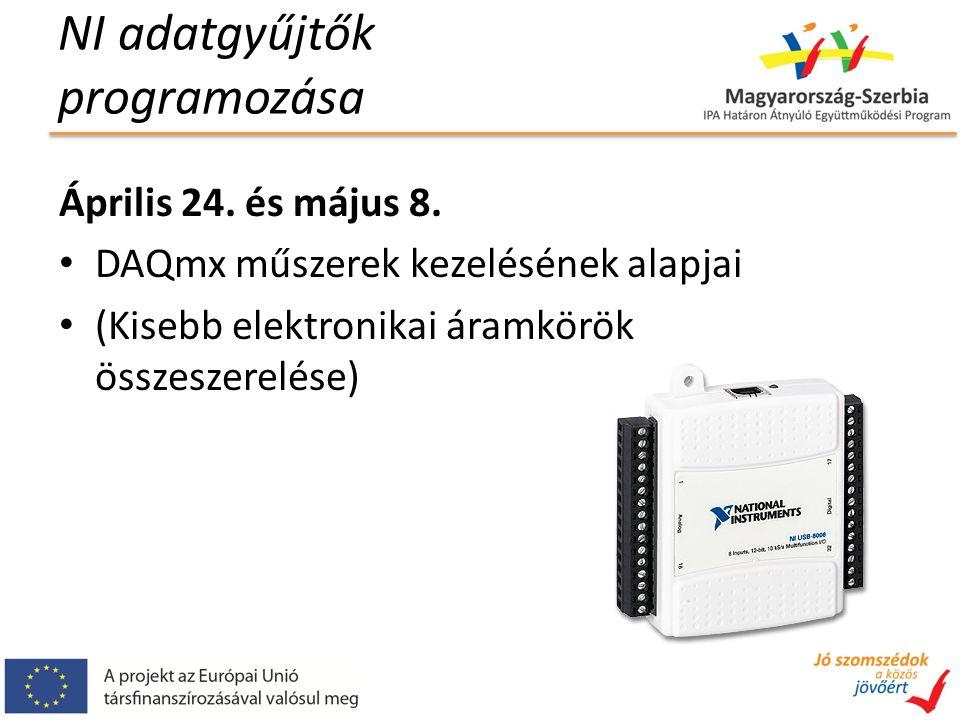 NI adatgyűjtők programozása Április 24.és május 8.