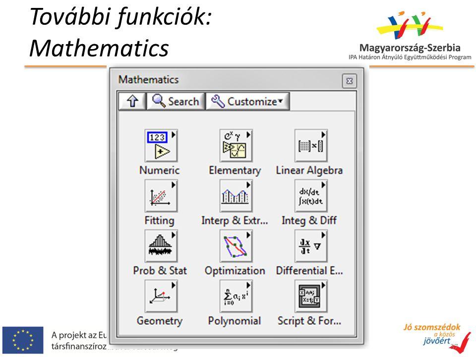 További funkciók: Mathematics 37