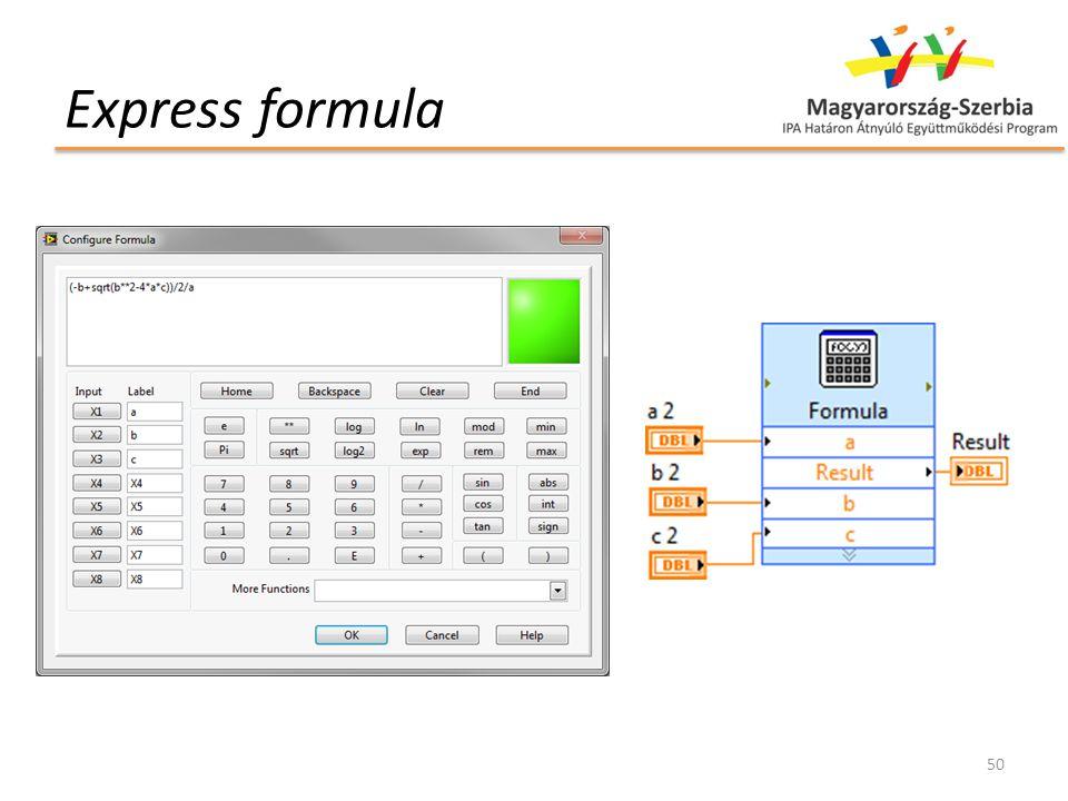 Express formula 50