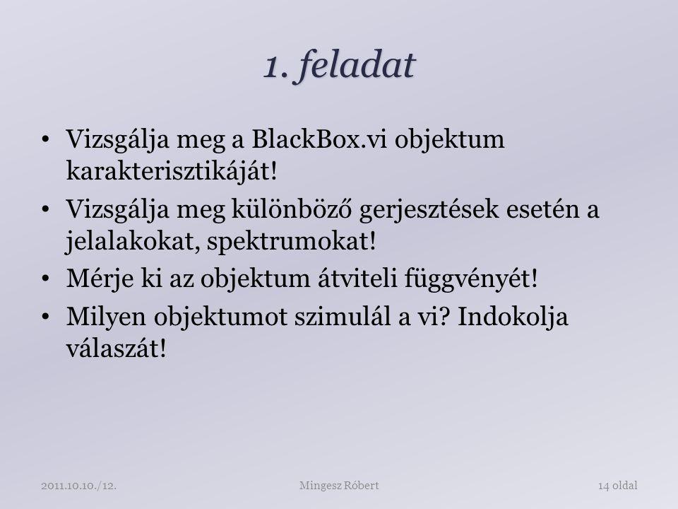 1. feladat Vizsgálja meg a BlackBox.vi objektum karakterisztikáját.